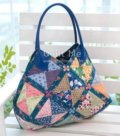 퀼트미 꽃길 22조각 가방 Anese Bagbasket Bagpatchwork Bagsbags Sewingquilt