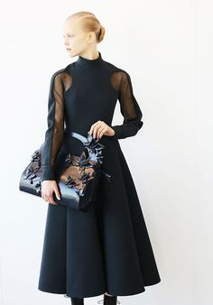 Delpozo Fall/Winter 2014 - the dress is lovely and the bag....