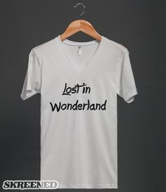 Lost in Wonderland Slogan T Shirt - Clothes, fashion for women, men, teens and kids