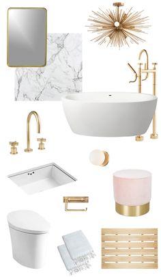 mandy moore master bath // sarah sherman samuel