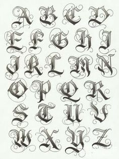 Tipografías, Fuentes / Fonts Letters