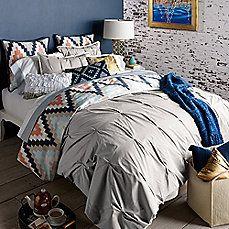 image of Blissliving® Home Harper Duvet Cover Set in Glacier Grey
