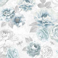 Graham & Brown Fresco Blue Floral Wallpaper | Departments | DIY at B&Q
