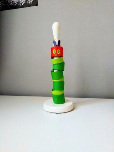 Bardzo głodna gąsienica z rolek po papierze toaletowym Toothbrush Holder, Instagram, Toothbrush Holders