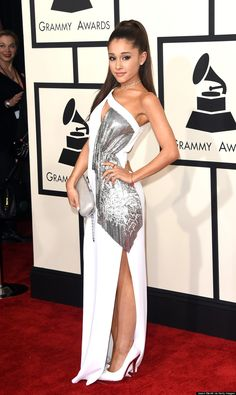 Ariana Grande Is All Grown Up At The 2015 Grammys via The Huffington Post Canada Style