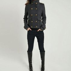 Fab.com | Military Cape Coat Gray