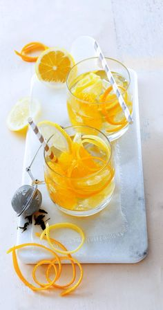 Eaux Détox, thé vert aux agrumes Infused Water, Detox, Nutrition, Food, Herbal Teas, Syrup, Juice, Drinks, Coke Chicken