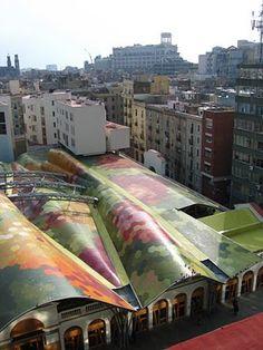 Mercado Santa Caterina #Barcelona ARQUITECTO: Enric Miralles, Benedetta Tagliabue LUGAR: España, Barcelona FECHA: 2005