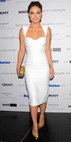 8dcc2252236 Olivia Wilde  Celebrity fashion hits Vestido Curto
