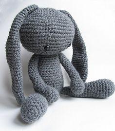 Free Amigurumi Crochet Pattern for Bunny Rabbit Crochet Bunny Pattern, Crochet Patterns Amigurumi, Cute Crochet, Amigurumi Doll, Crochet Toys, Crochet Baby, Irish Crochet, Crochet Crafts, How To Make Toys