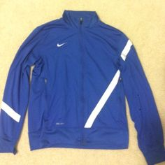 Mens Nike Dri-Fit Track Jacket Perfect Condition no snags, tears, or stains. Nike Tops Sweatshirts & Hoodies