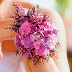 Night with Friends - Pink Freesia - Veronica Corsage | Wholesale pink Corsages | Buy pink Corsages | Discount Pink Freesia - Pink Veronica Corsage at BunchesDirect