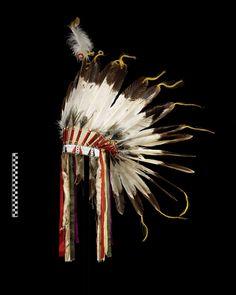 Salish (Flathead) headdress circa 1915. Montana. National Museum of the American Indian (Smithsonian)