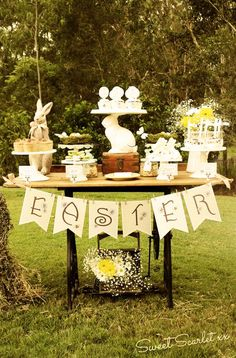 Country brunch at an Easter party! See more party ideas at CatchMyParty.com!
