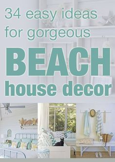 Summer is on it's way out, but that doesn't mean I can't dream about the perfect beach house decor! I just love those bar stools!