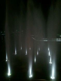 Fuentes de luz en Madrid río