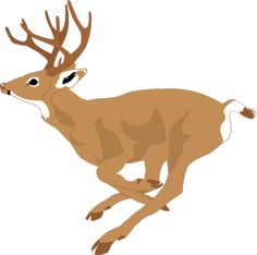 Deer Running Fast Clip Art