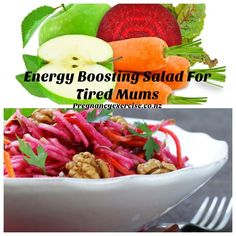This delicious superfood salad not only looks amazing it tastes delicious and I have chosen ingredients that have special energy boosting powers especially for tired mums. Sugar In Apple, Superfood Salad, Pregnancy Nutrition, Pescatarian Recipes, Natural Energy, Healthy Lunches, Healthy Recipes, Superfoods, A Food