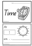 Learning To Tell Time - Printable Book - K-3 Teacher Resources