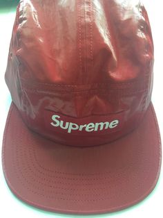 62083f28 Supreme Red Glossy Cap Free size #fashion #clothing #shoes #accessories  #mensaccessories