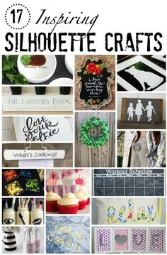 17 Inspiring Silhouette Crafts | Pocketful of Posies