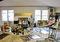 Prominent NYC artist Tom Christopher in his Croton-on-Hudson Lift Trucks Project studio. Christopher is judging ArbeitenZeit Media's Student Art Contest, which runs 9/1-10/15/2015. Semifinalists will be announced 10/30/2015 and the winner on 11/15/2015.