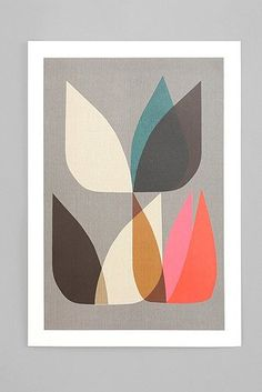 print tulips mid century urban outfitters