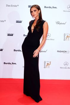 Bambi Awards, Berlin - November 14 2013 Victoria Beckham wore a full-length gown from her eponymous collection with Chopard jewellery.