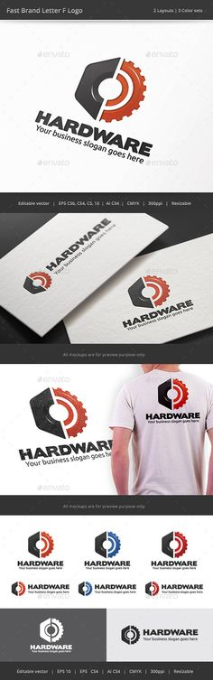 Hardware Gear Logo — Vector EPS #industry #nut • Available here → https://graphicriver.net/item/hardware-gear-logo/9019833?ref=pxcr