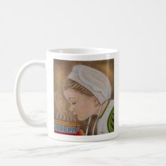 Amish Girl With A Pie Mug - decor gifts diy home & living cyo giftidea
