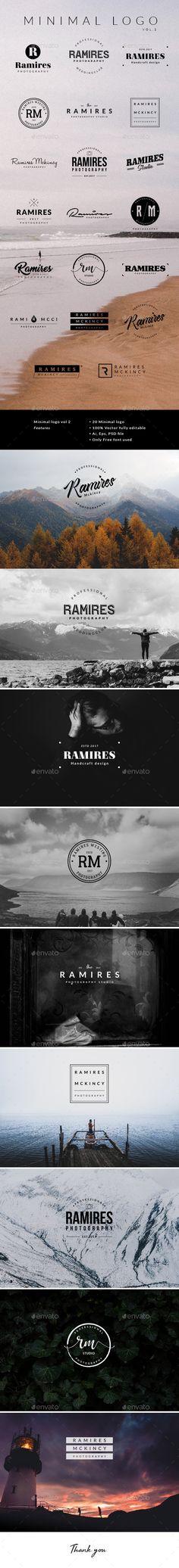 Minimal Logo Vol.2 — Photoshop PSD #Logo Kit #Luxury Simple • Available here ➝ https://graphicriver.net/item/minimal-logo-vol2/20876049?ref=pxcr