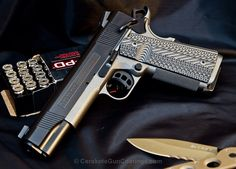 Cerakote Coated 1911: H-146 Graphite Black with H-237 Tungsten