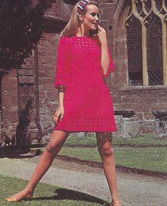PDF crochet dress vintage crochet pattern pdf INSTANT download