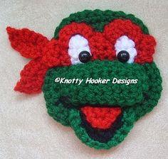 Knotty Hooker Designs: Ninja Turtle Inspired Appliques