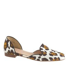 J.Crew - Cleo d'Orsay loafers | leopard white canvas