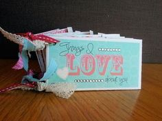 Stampin' Up! Artisan Design Team 2012 - Valentine - Things I Love About You book - Jeanna Bohanon
