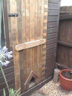 Pallet shed door