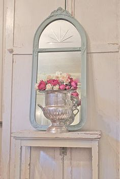 Mirror in Duck Egg Blue