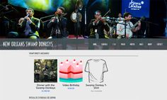 Band Website Inspiration: Great Store Layout for Music & Merch by New Orleans Swamp Donkeys Traditional Jass Band. Great job!