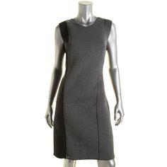 T Tahari Womens Sleeveless Knee-Length Wear to Work Dress