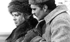 Lara Fyodorovna Guisharand and Yury Andreyevich Zhivago in the film version of Dr Zhivago.