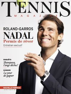 5d954cdcfe4b5 Rafael Nadal On The Cover Of June 2016 French Tennis Magazine