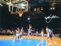Christian Laettner Signed Duke 'The Shot' 11x14 Photo - Full View