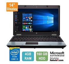 "HP 6450b i3 370M 2.4 GHz, 14"" Display, 4GB RAM, 160GB HDD... https://www.amazon.ca/dp/B01N7CLXC0/ref=cm_sw_r_pi_dp_x_ImSsybPKFP19R"