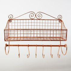 Wall Shelf Copper Iron Metal Spice Rack Hook Wire Wall Shelf Belle: Amazon.co.uk: Kitchen & Home/ £19.93