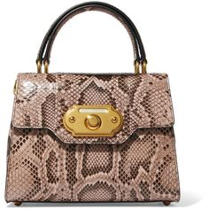 Dolce & Gabbana Welcome small python tote ($3,985) ❤ liked on Polyvore featuring bags, handbags, tote bags, snake print, brown tote purse, dolce gabbana tote bag, python handbags, dolce gabbana purses and locking purse