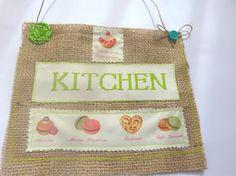 French Kitchen DecorJute decoration Cookie by CrossStitchElizabeth