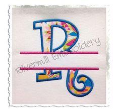Split Curlz Applique Machine Embroidery Alphabet $4.95