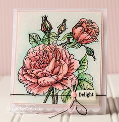 Beautiful Rose Image By Crafty Secrets And Colored With Inktense Pencils