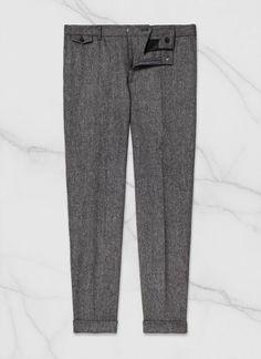 Pantalon homme en tweed de laine vierge : Achetez votre pantalon gris moyen 15HP3DOBY-A611/29, et découvrez toute la collection de costumes hommes De Fursac.